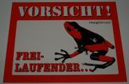 Schild Pfeilgiftfrosch