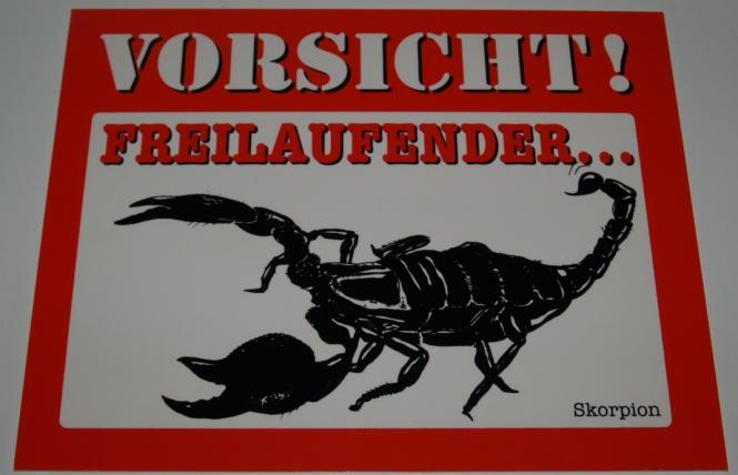 Schild Skorpion